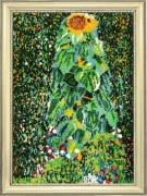 Sunflower after G. Klimt