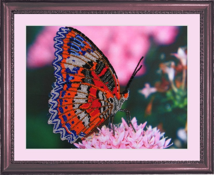 ...рисунком, бисер (Чехия) 8 цветов, игла для вышивания, инструкция.