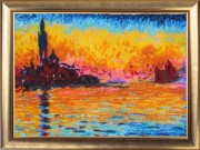 Sunset in Venice (after. C. Monet)