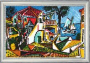 Mediterrainian Landscape (after P. Picasso)
