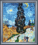 Cypress Road (after V. Van Gogh)
