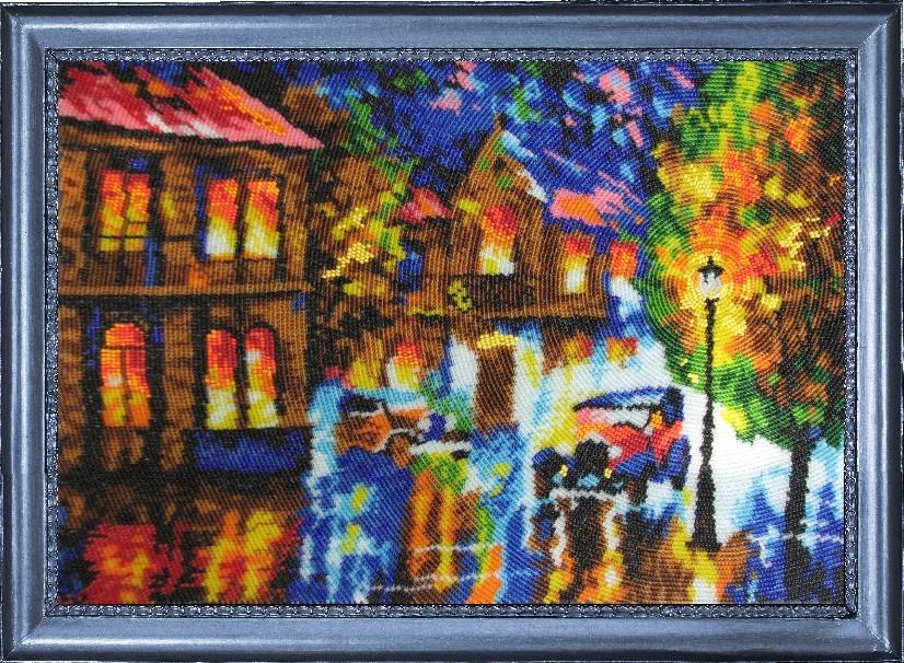 ...рисунком, бисер (Чехия) 17 цветов, игла для вышивания, инструкция.