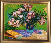 Oleanders and Books (after V. Van Gogh)