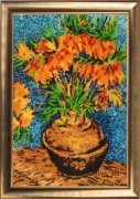 Flowers in the Copper Vase (after V. Van Gogh)